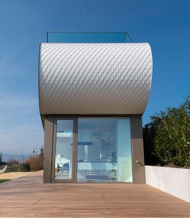 Flexhouse - дом с изогнутым фасадом.