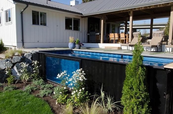 Modpool - домашний бассейн из старого морского контейнера.