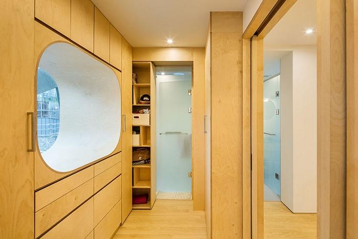 Частный дом от фирмы Moon Hoon. Раздвижные двери и шкафы.