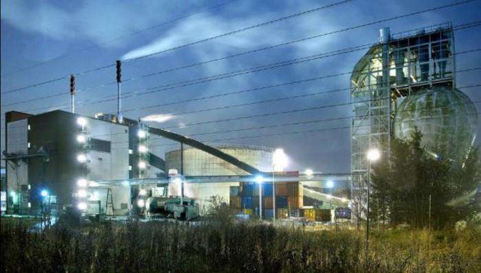 Завод по переработке отходов.