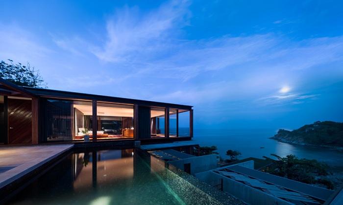 Новый отельный комплекс, построенный в Таиланде.
