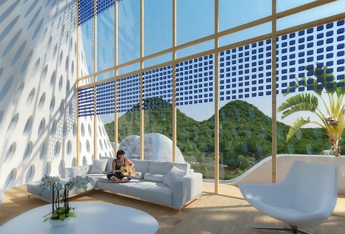 Nautilus Eco-Resort. Интерьер.