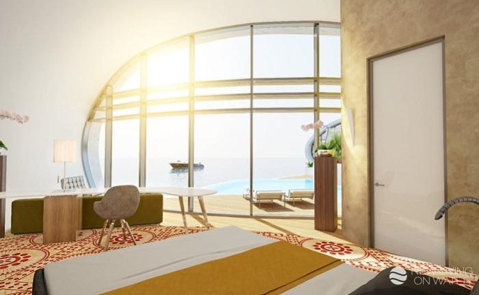 Дом на плаву New Living. Интерьер.