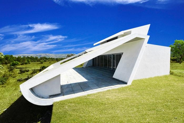 Dodia - монохромная вилла с динамичным фасадом.