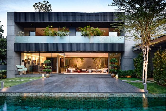 «66MRN House». Внутренний двор.