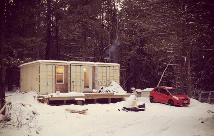 Дом из контейнеров, в котором можно жить при - 42 градусов.