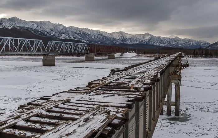 Опасный мост, расположенный в Забайкалье.