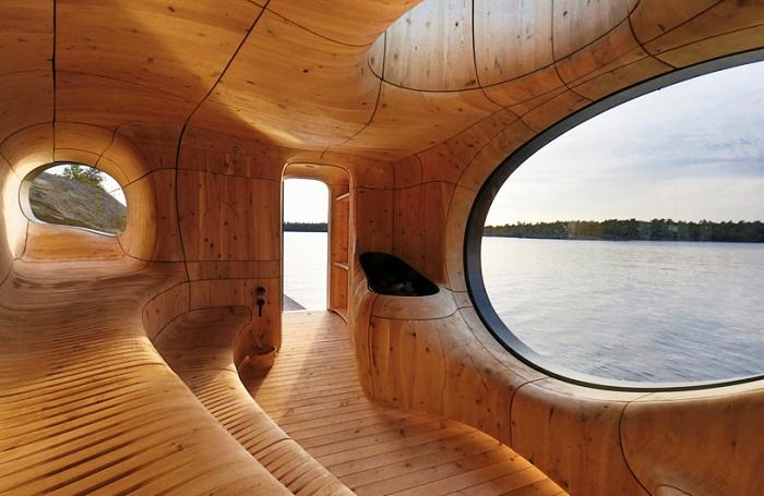 Grotto-Sauna - сауна на берегу озера Гурон.