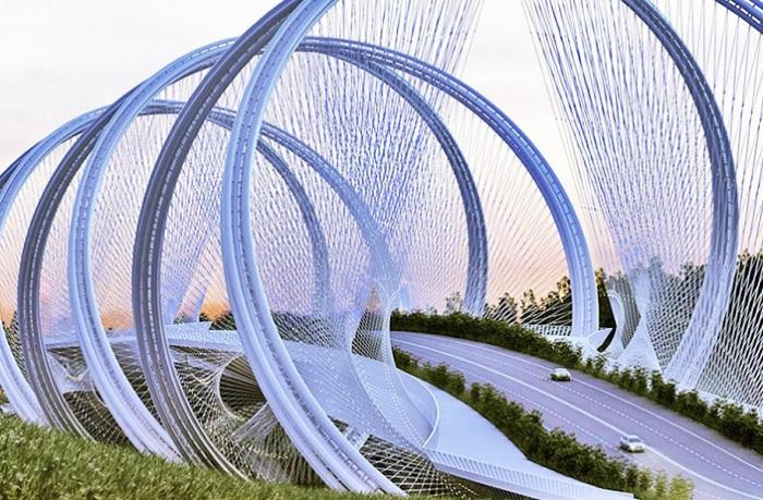 Проект моста San Shan Bridge в Пекине.