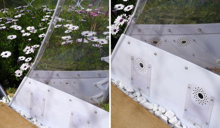 Invisible Garden House. Система естественной вентиляции.
