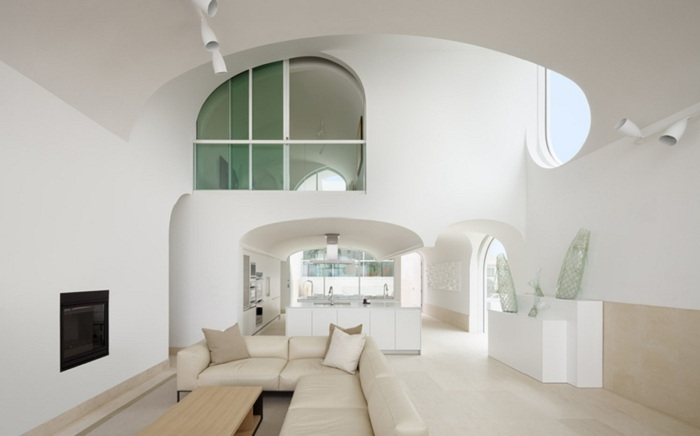 Интерьер дома Vault House.