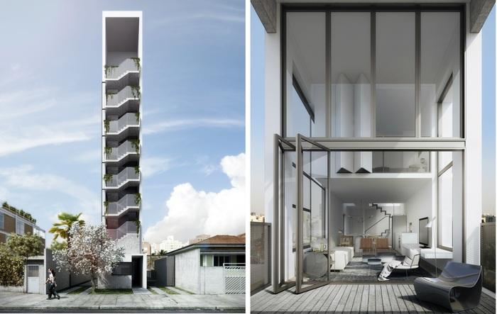 AIR-madalena. Проект суперузкой жилой башни.