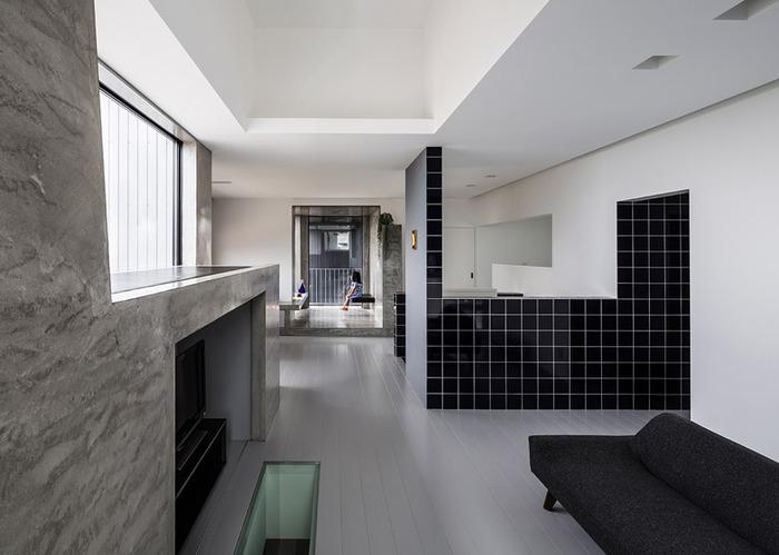 Scape House. Интерьер в стиле минимализм.