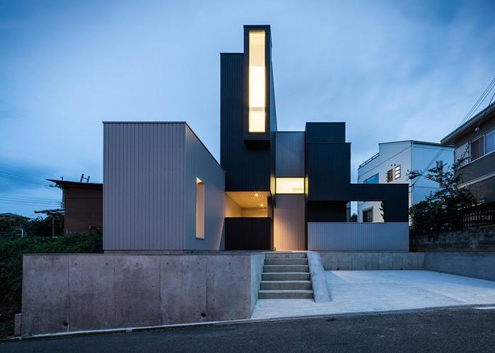 Scape House. дом с геометрическими формами.