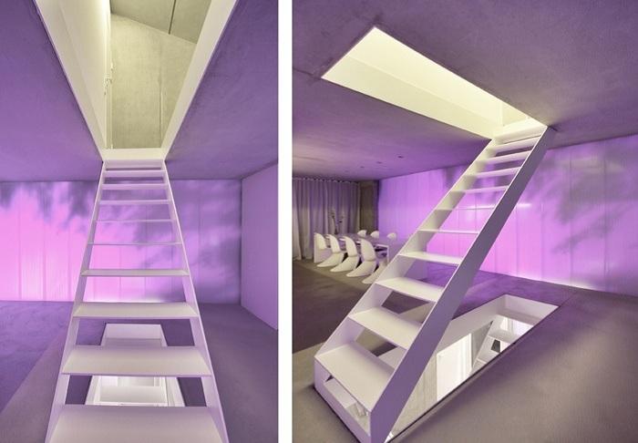 Haus F. Лестница - элемент декора.