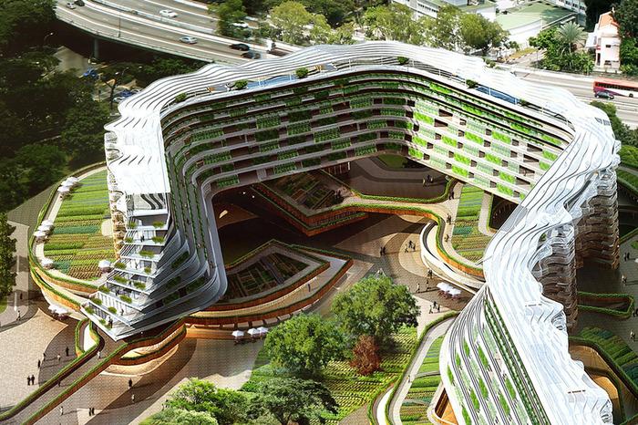«Home Farm» - жилой комплекс с вертикальными грядками.