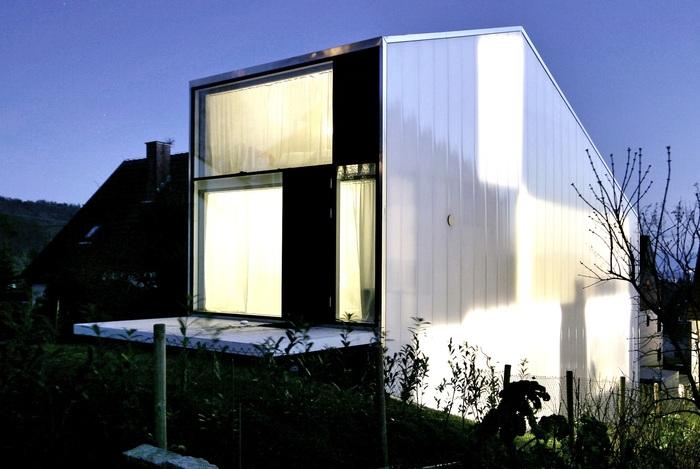 Haus F. Дом шириной всего 4,7 метра.