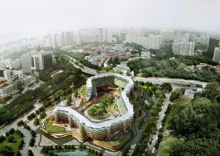Проект жилого комплекса для пенсионеров в Сингапуре.