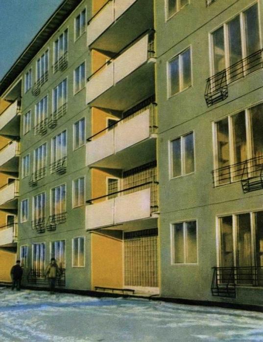 Пластмассовый 5-этажный дом, построенный в Москве.