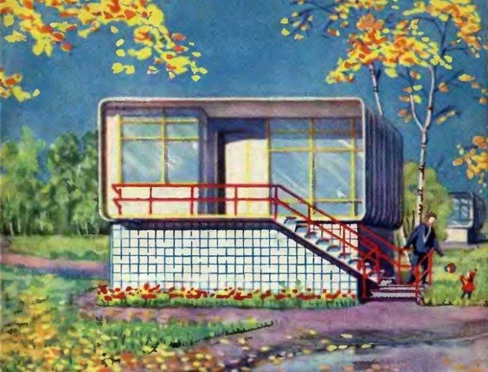 Иллюстрация с изображением пластмассового дома.