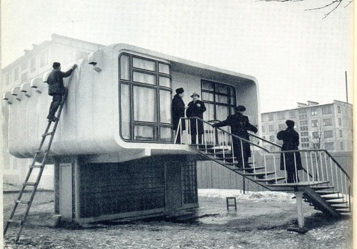 Экспериментальный пластиковый дом, построенный в СССР в 1961 году.