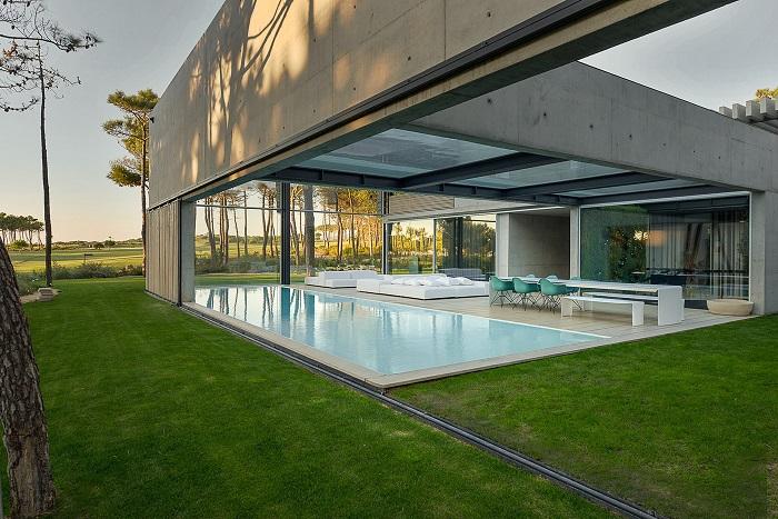 Wall House. - резиденция с двумя бассейнами.