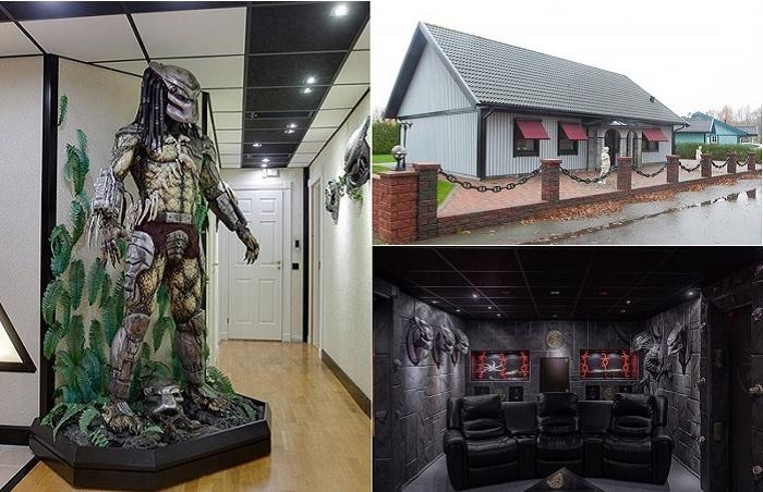 Дом с интерьером с монстрами.