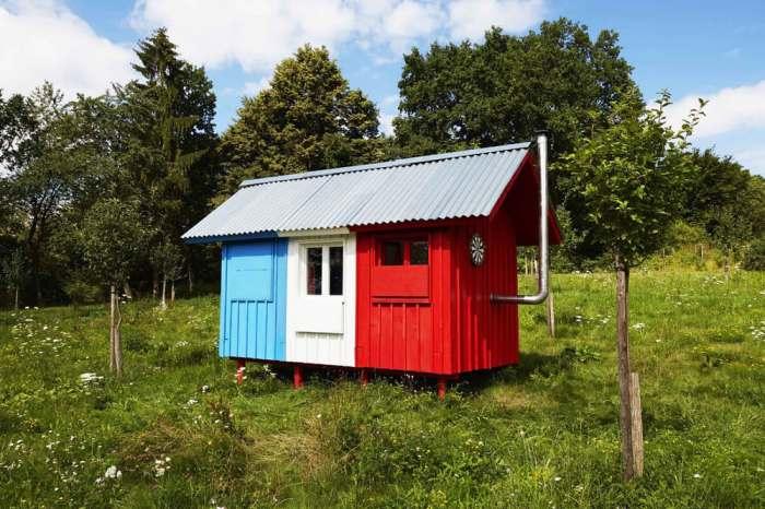 Сборный домик, который можно построить всего за 3 часа.