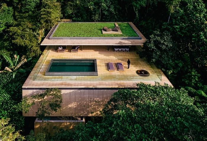 Casa na Mata - дом посреди джунглей.
