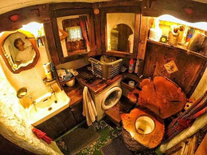 Домик хоббита в Шотландии. Ванная комната.