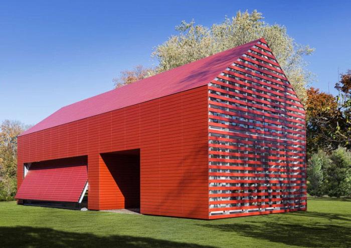 Red Barn - дом, переделанный из старого амбара.