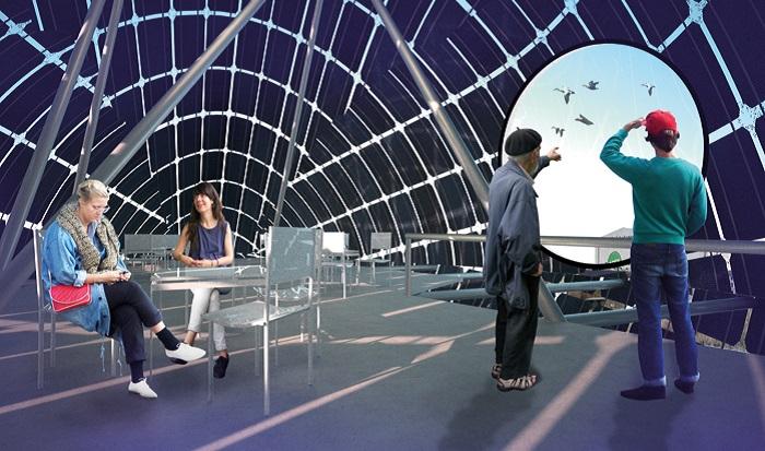 Кафе, расположенное внутри «Энергетической утки».