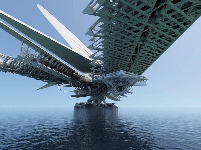 Мост под парусами - футуристический проект от сербского архитектора.