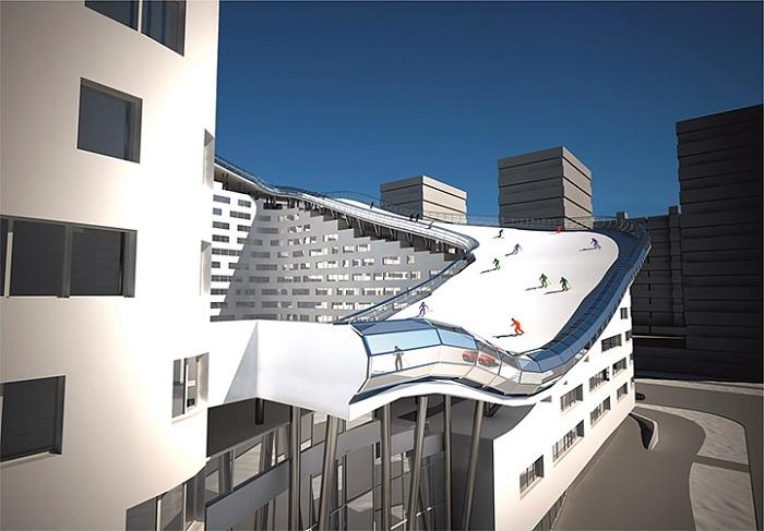 Длина спуска на крыше составит 326 метров.