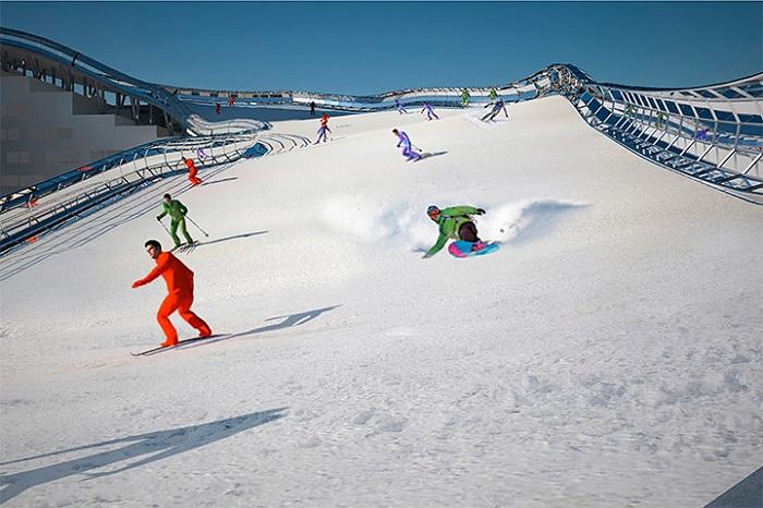 Уникальная снежная трасса в Астане. Концепт.