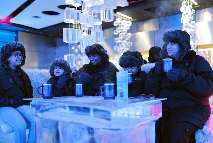 Морозное кафе Chillout cafe, расположенное в жарком Дубае.