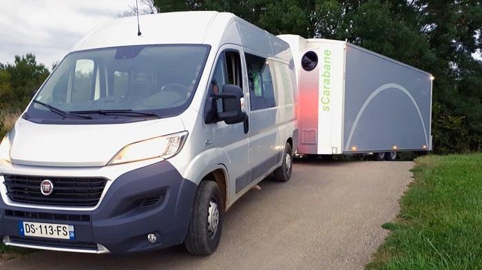 Мобильный дом размером с фургон.