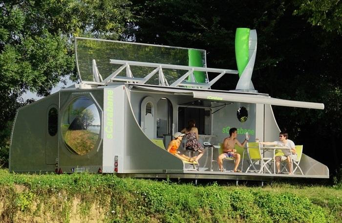 Прототип мобильного дома-трансформера от французской компании Green Cat Technologies.
