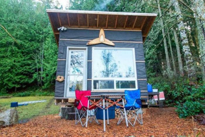американец построил для себя домик стоимостью всего $ 500.
