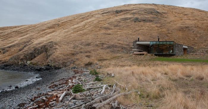 Annandale Seascape Cottage - дом на пустынном берегу в Новой Зеландии.