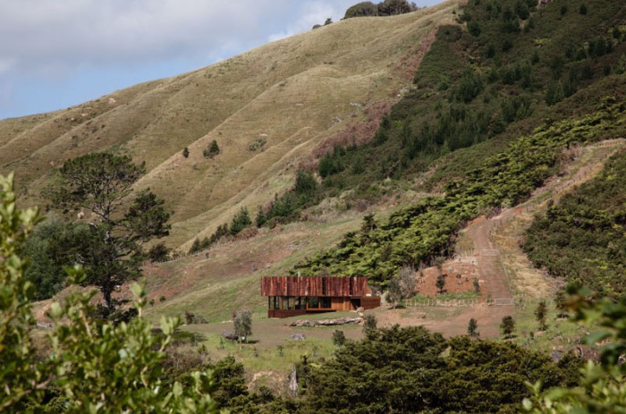 Дом на склоне (Новая Зеландия).