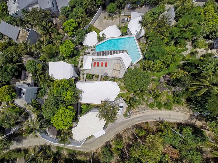 The Suan Kachamudee spa and resort. Вид сверху.