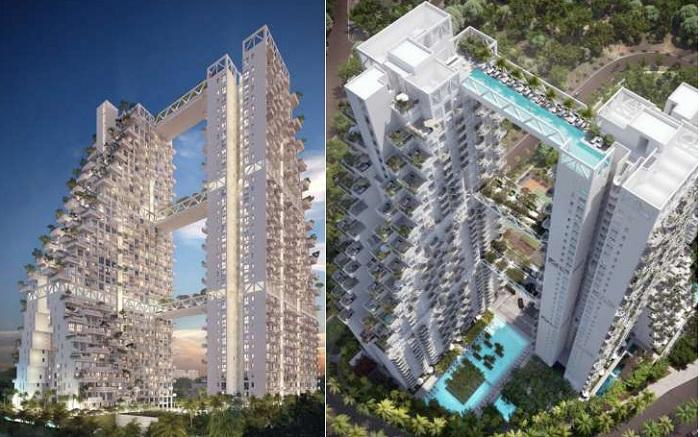 Sky Habitat - самый крупный жилой комплекс в Сингапуре.