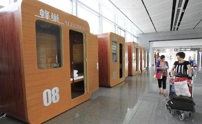 Sleepbox - капсульный мини-отель в аэропорту Сиань (Китай).