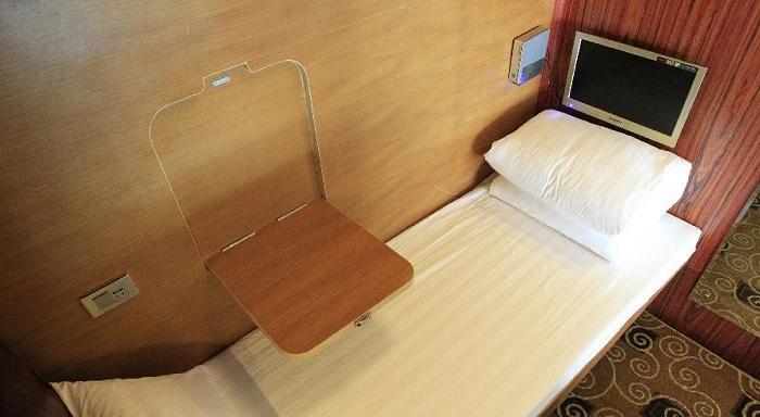 Мини-номер капсульного отеля Sleepbox.