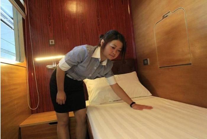 Площадь каждого номера Sleepbox составляет 3 кв. метра.