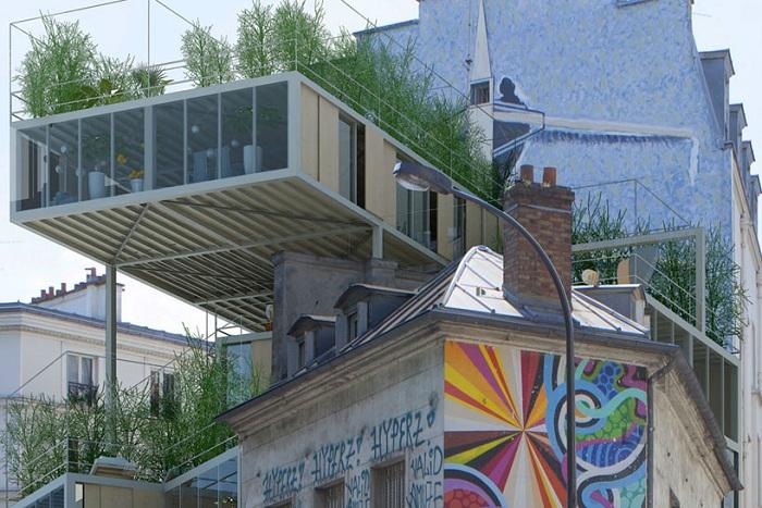 Модульные квартиры, построенные из экологически чистых переработанных материалов.