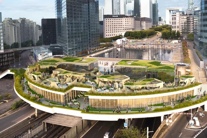 OxyGen - проект городского «оазиса» в районе Дефанс.