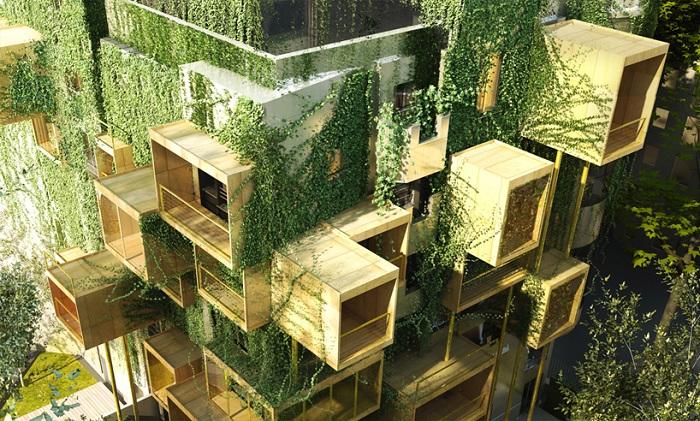 Деревянные кубы повысят энергоэффективность домов на 75 процентов.