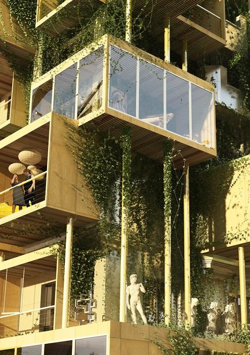Жилая площадь старых домов увеличится за счет новых деревянных пристроек.